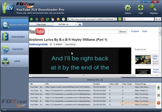foxreal youtube flv downloader pro gratuit