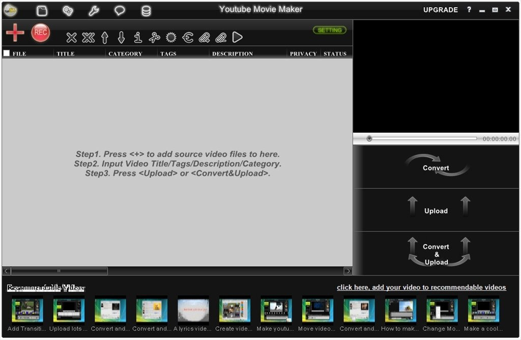 how to upload a video from movie maker to youtube