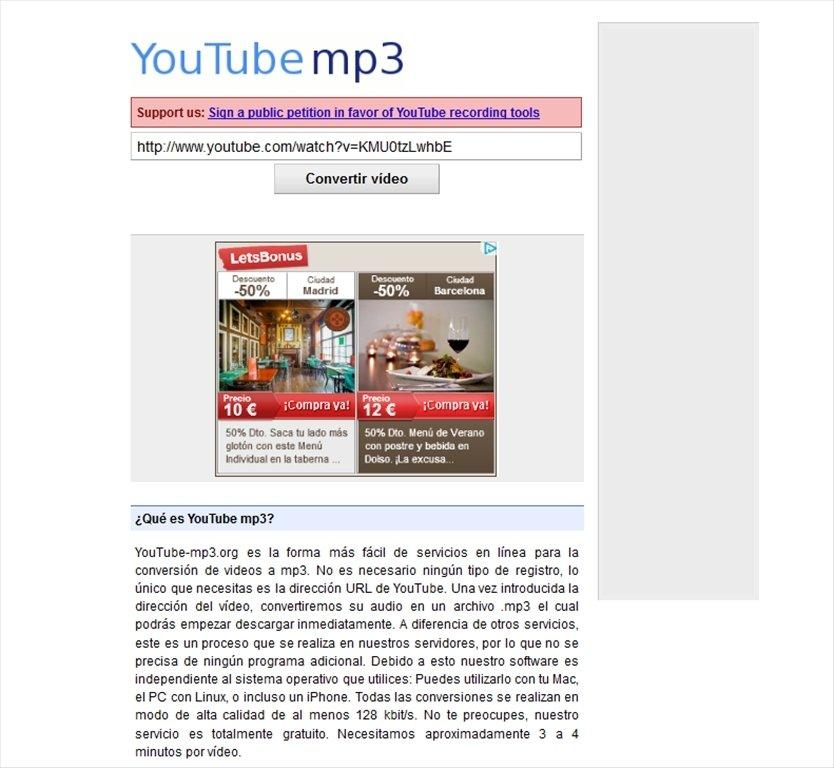 YouTube mp3 Webapps image 3