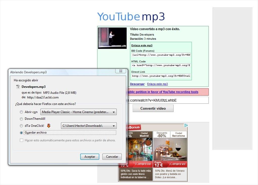 YouTube mp3 Online (English) - Free