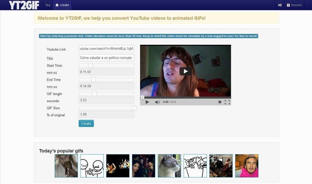 YouTube to GIF Webapps image 4