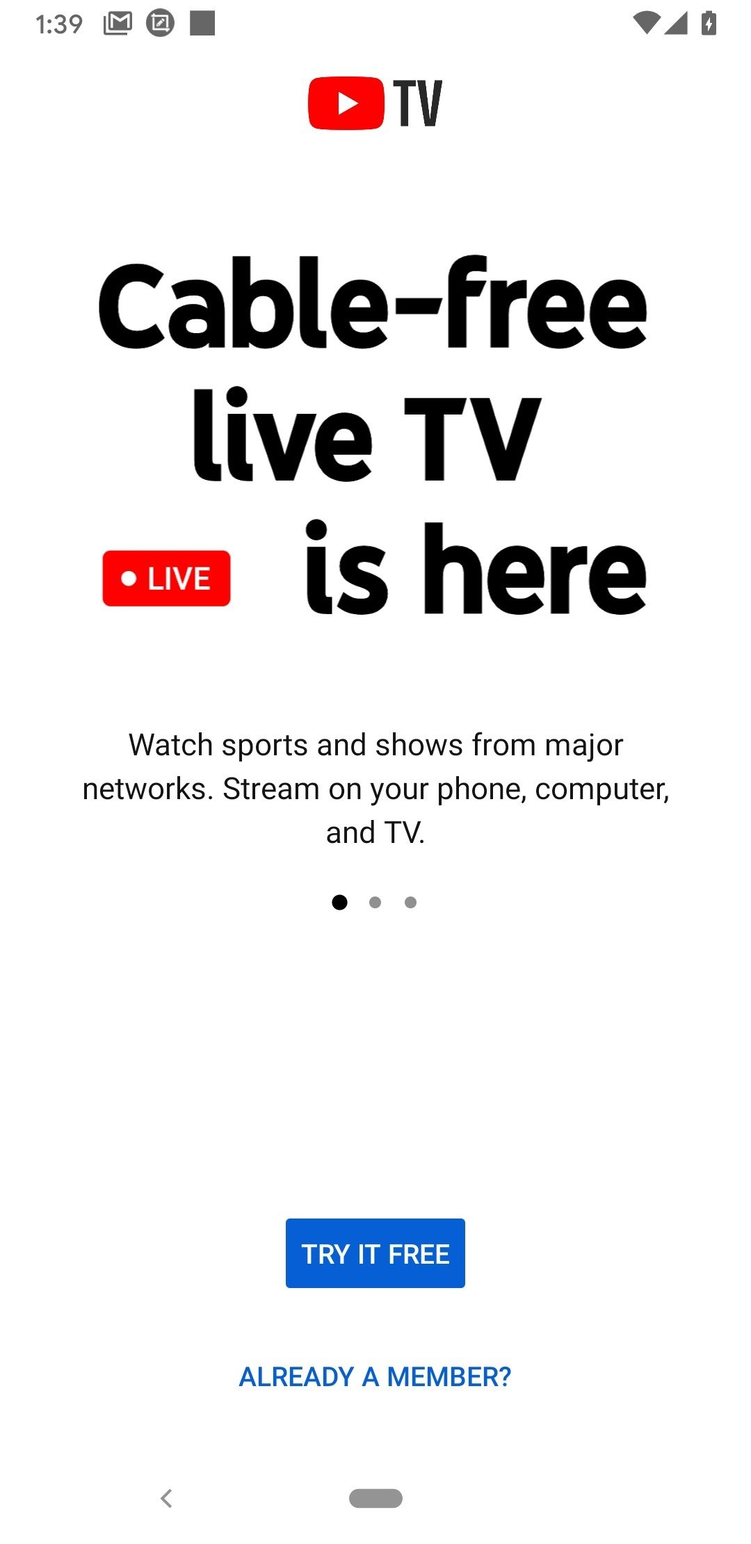 YouTube TV Android image 5