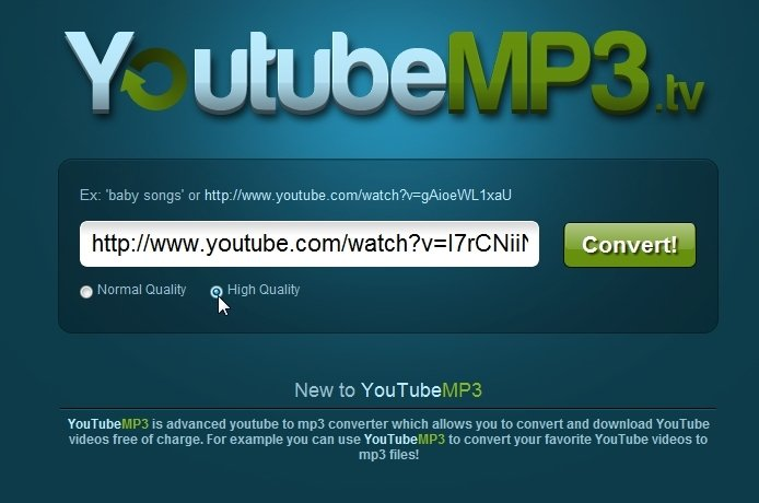 online youtube downloader mp3 high quality