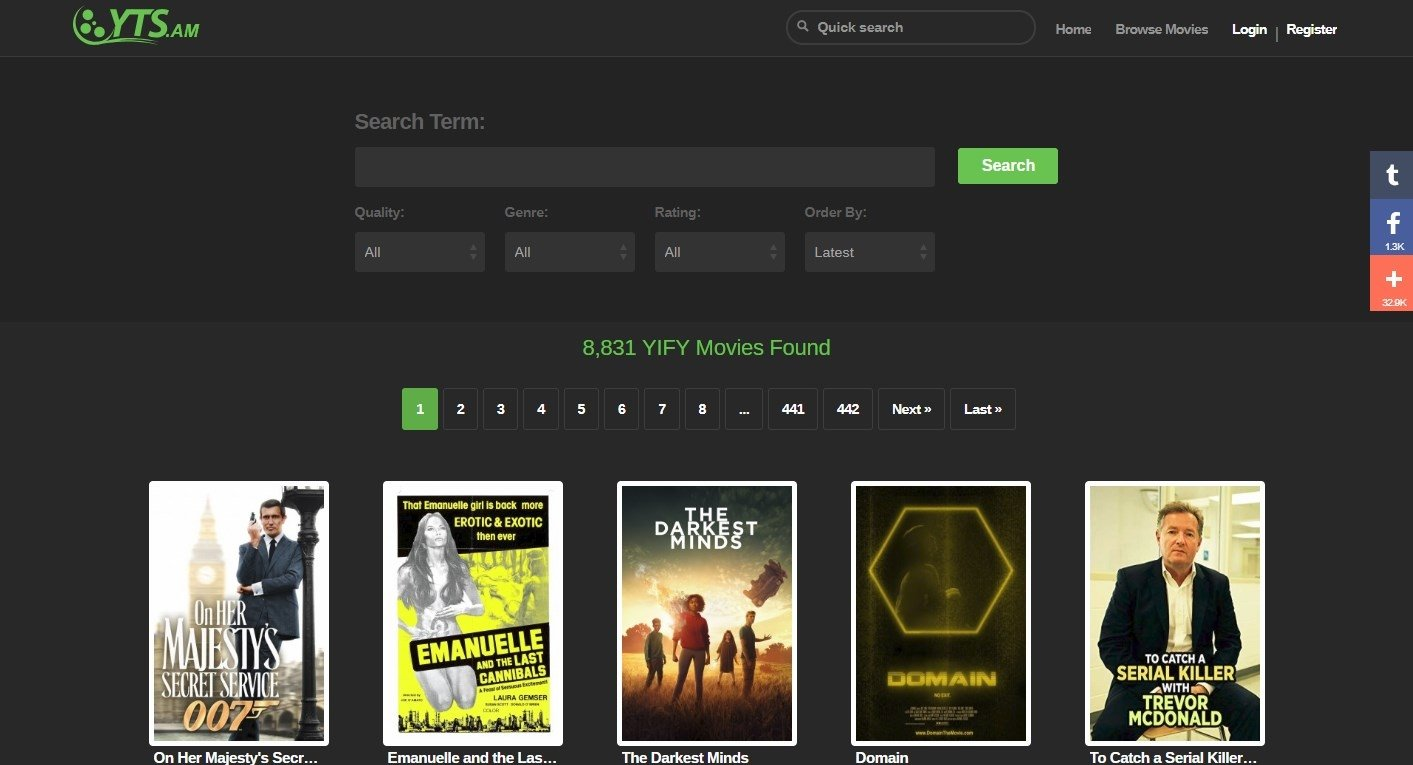 YTS YIFY Online (English) - Free