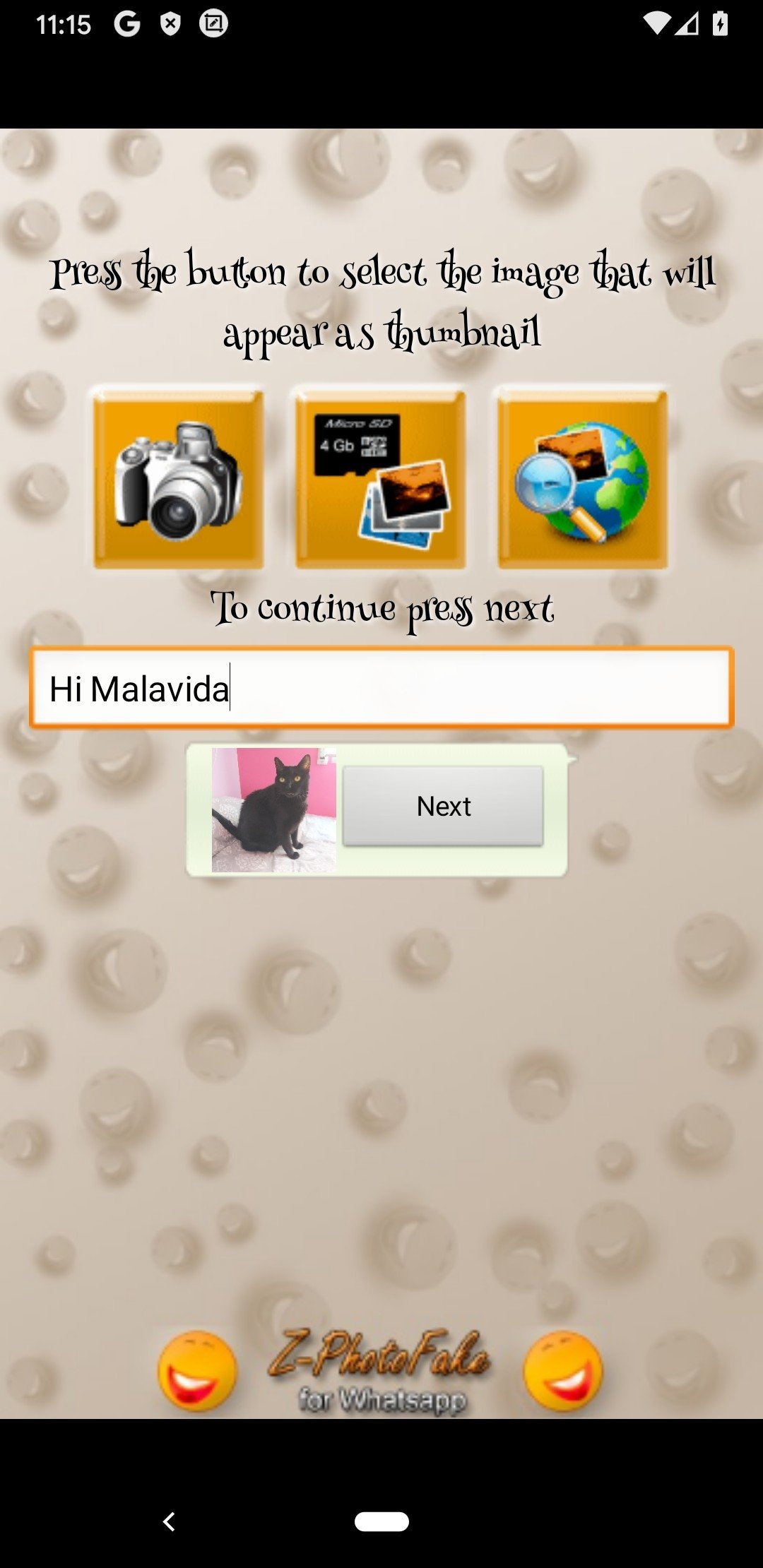 Z-Photo Fake for Chats Android image 5