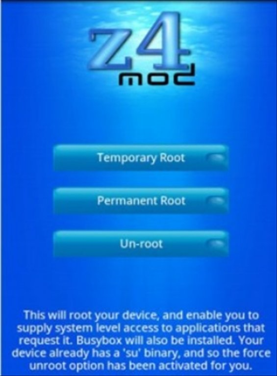 z4root Android image 3