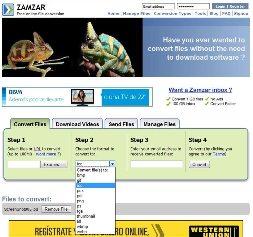 Zamzar Webapps image 3