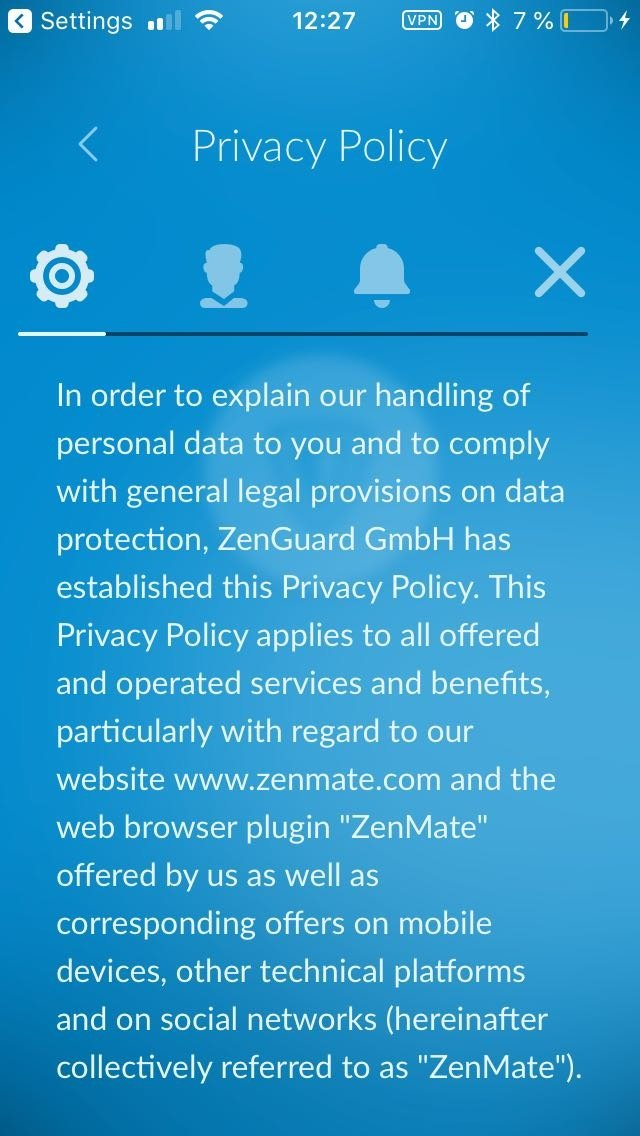 ZenMate VPN - Download for iPhone Free