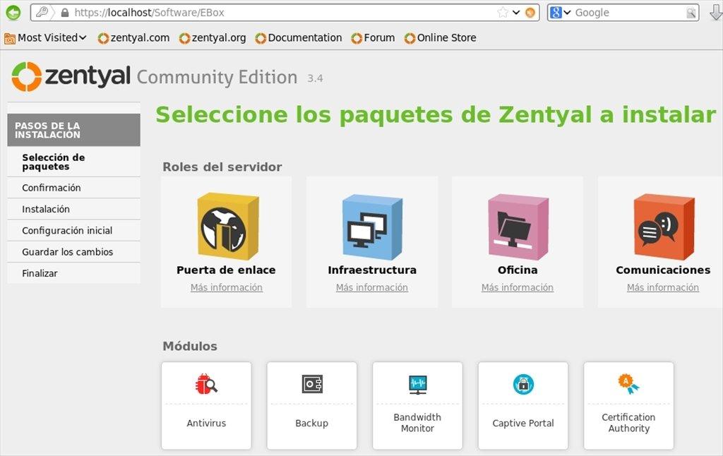 Zentyal Linux image 4