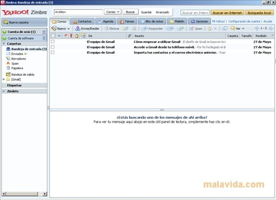 Zimbra Desktop 7.2.5