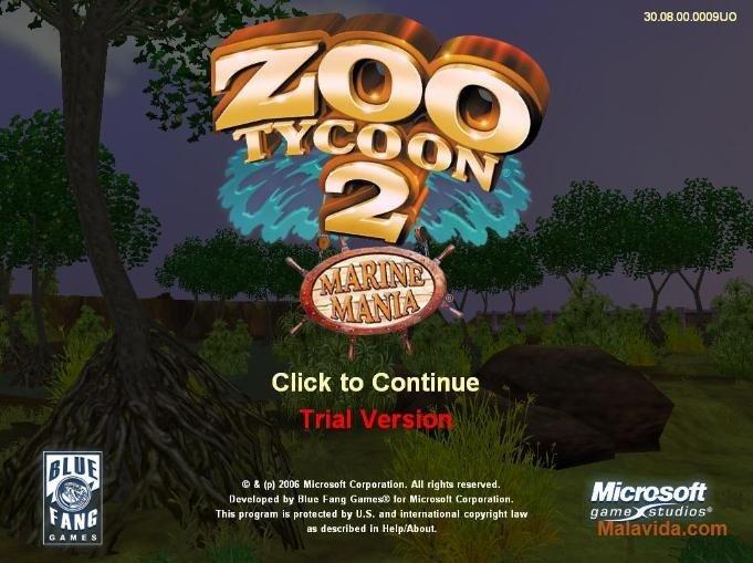 Marine Mania Zoo Tycoon 2 Demo