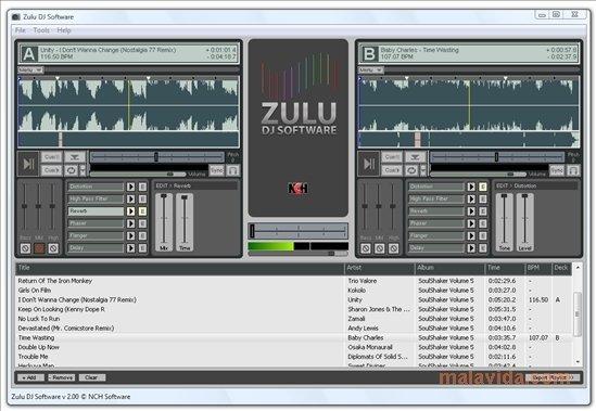 table de mixage zulu