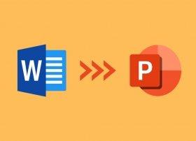 Cómo convertir Word a PowerPoint