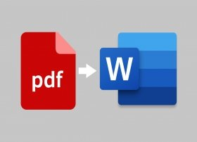 How to easily convert PDF to Word: online or using software