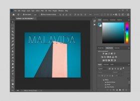 Cómo crear texto con efecto cristal en Photoshop