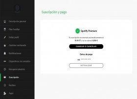 Cómo quitar Spotify Premium