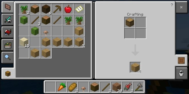 Un bloque de madera da 4 cajas o tablones