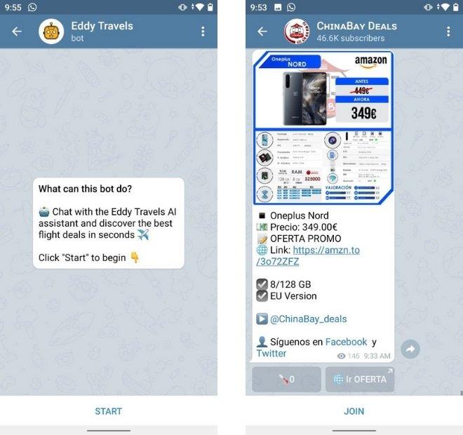 Un bot et une chaîne de contenu sur Telegram