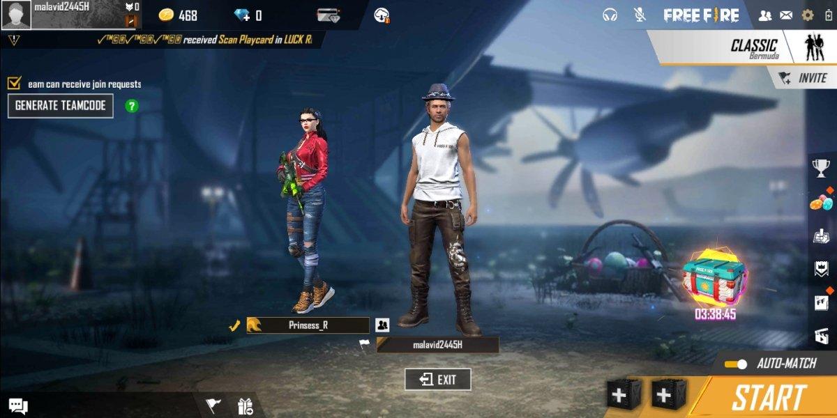 Un'amica accetta di giocare una partita in modalità Duo