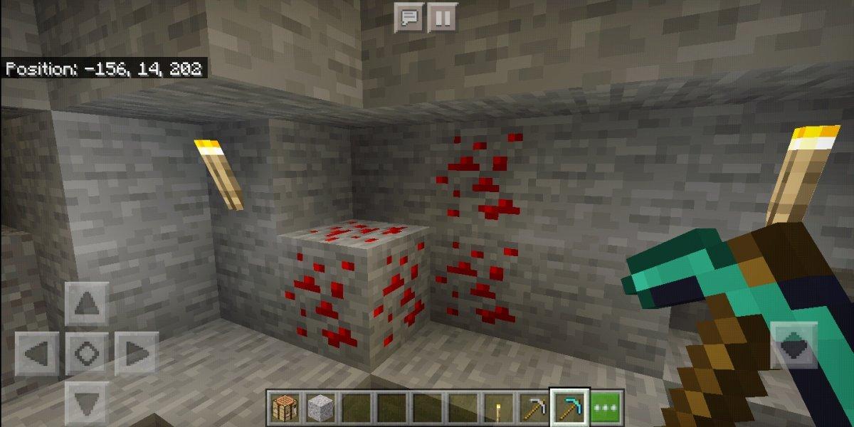 Un bloque o mena de piedra roja