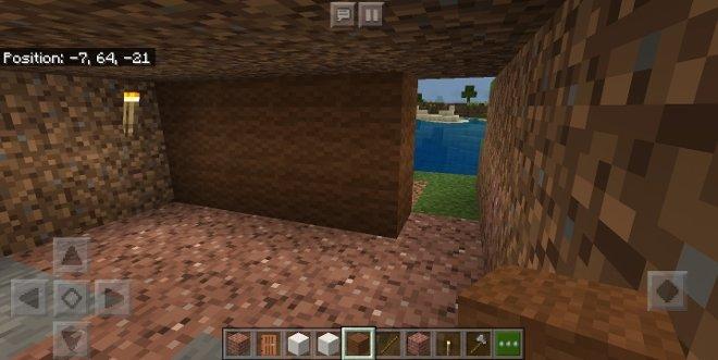 Uma abrigo cavado no chão