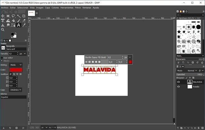 A simple illustration in GIMP