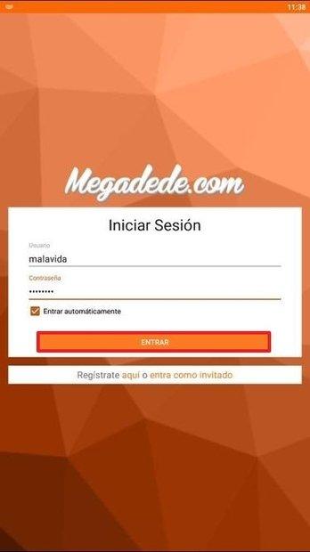 Acceso con credenciales de usuario