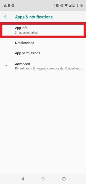 Acesse App info