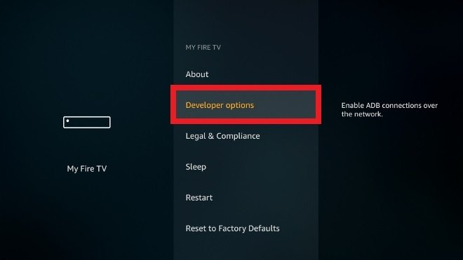 Access the developer options