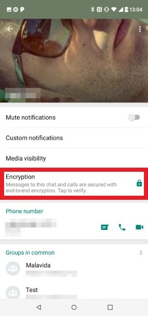 Access the Encryption section