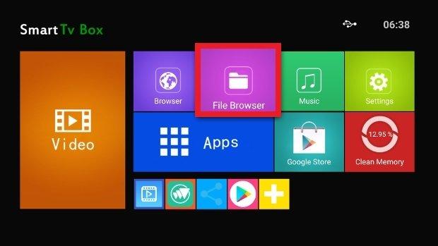 Accès à l'explorateur de fichiers d'Android TV
