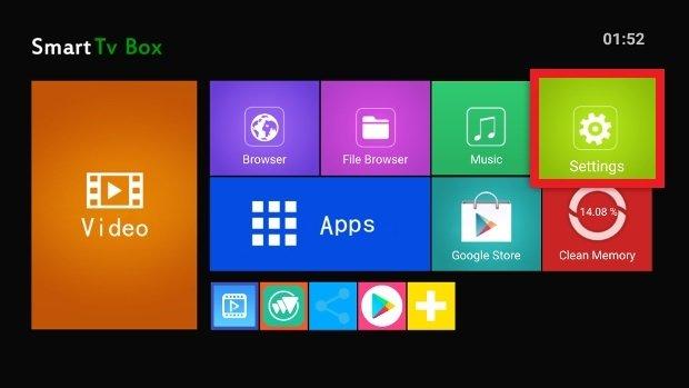 Accès aux paramètres d'Android TV