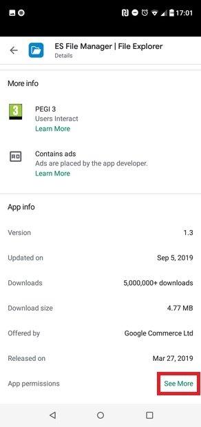 Accesso alle autorizzazioni dell'app
