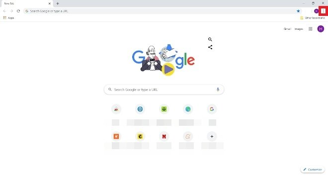 Accès au menu de Google Chrome