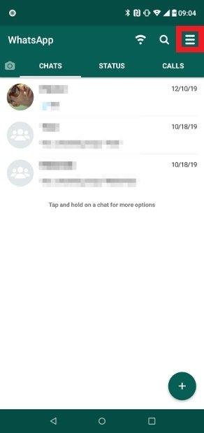 WhatsApp Plusのオプションメニューにアクセス