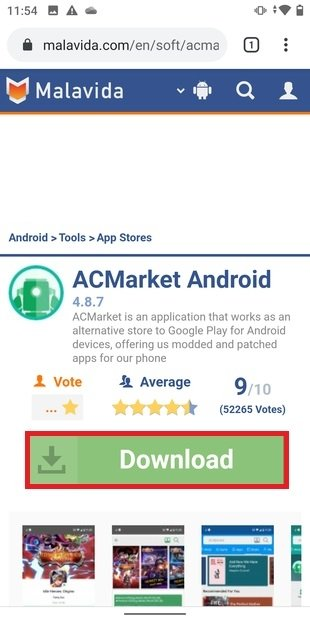 Fiche de téléchargement de ACMarket