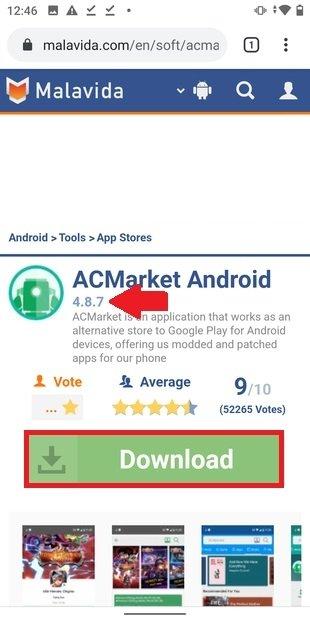 Dernière version de ACMarket et téléchargement
