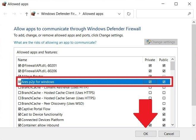 Ajouter une exception dans le pare-feu de Windows