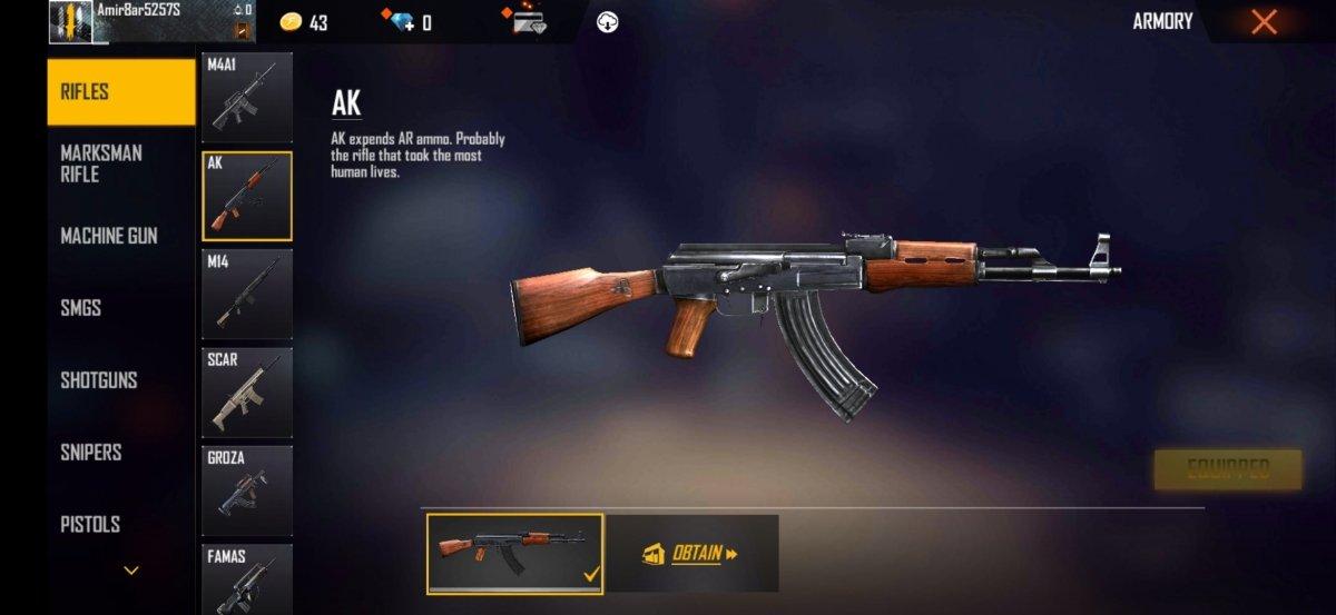 AK, rifle con una gran potencia de disparo pero también con retroceso