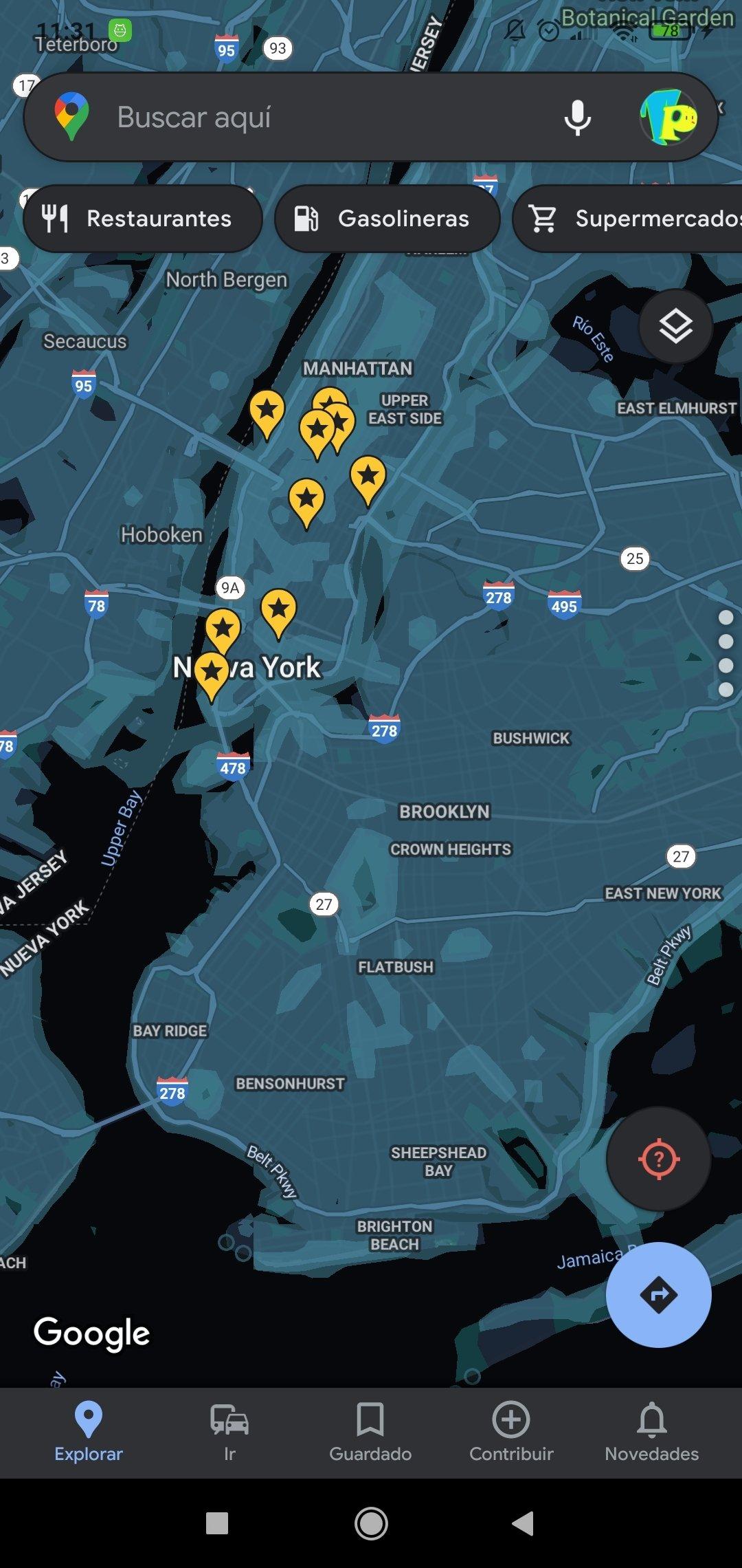 Se habilita todos los lugares disponibles en Street View