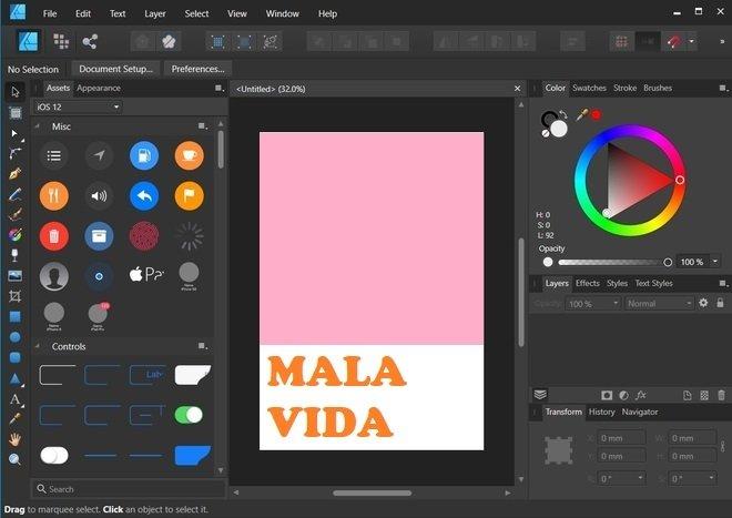 An Affinity Designer design