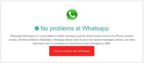 Anállsis de estado de WhatsApp en Downdetector