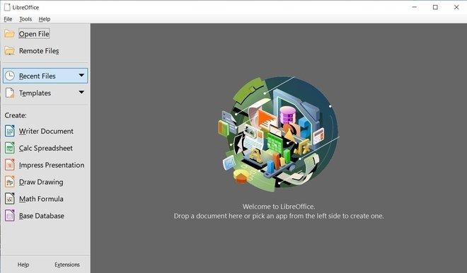 Aplicaciones incluidas en LibreOffice