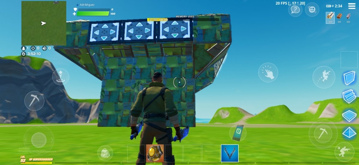Apparence d'une forteresse portable construite
