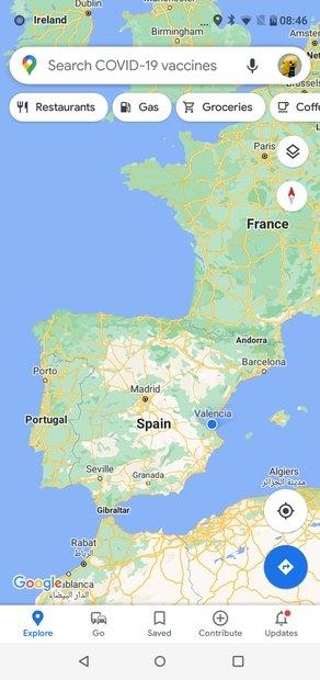 Aspecto de Google Maps