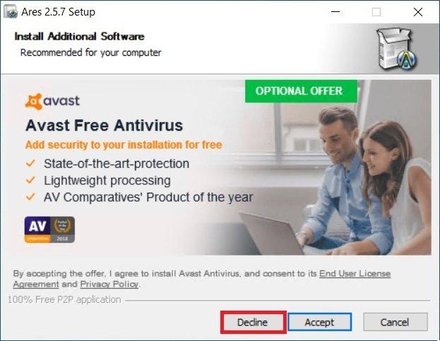 Avoid installing the antivirus