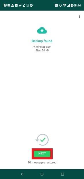 Backup now restored in GBWhatsApp
