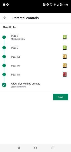 Opzioni di blocco in app e giochi