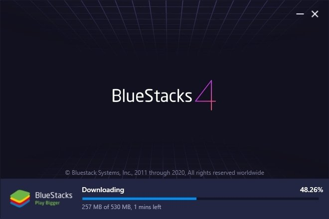 BlueStacks installation process