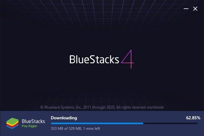 Proceso de instalación de BlueStacks